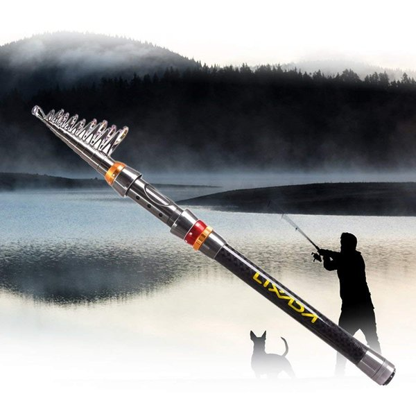 Lixada 釣り竿セット 伸縮釣りロッド スピニング釣りリール 釣り餌フック 釣り袋キット 100M釣り糸フック付き 海釣り・淡水両用