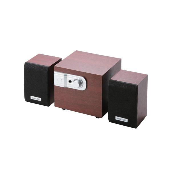 エレコム スピーカー 12W 2.1ch 木製 チェリーウッド MS-W02WCH