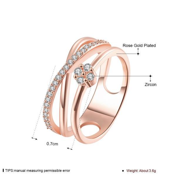 Rockyu ブランド ハワイアンジュエリー クローバー リング ピンクゴールド カラーレディース 四葉 指輪 ジルコニア CZ|micomema|05