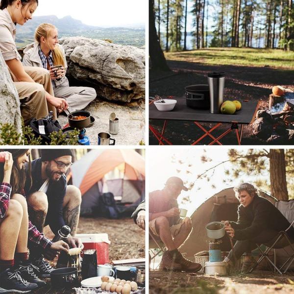 Terra Hiker キャンピングクックウェアー 陽極酸化アルミ 軽量 ポータブル仕様 ハイキング バックパック 野外活動に最適 (10点|micomema|07