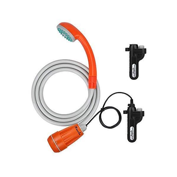 KEDSUM アップグレード版ポータブルシャワー アウトドアシャワー 簡易シャワー USB充電式電池 ダブル電池 持ち運び キャンプ 旅行|micomema|08