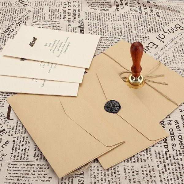 JSDDE シーリングワックス シーリングスタンプ 蝋封 スタンプ 祝福 告白 記念日 結婚式 お祝い 蜂 十字架 羅針盤   (羅針盤)|micomema|04