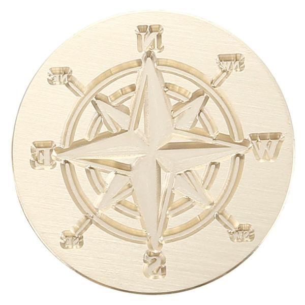 JSDDE シーリングワックス シーリングスタンプ 蝋封 スタンプ 祝福 告白 記念日 結婚式 お祝い 蜂 十字架 羅針盤   (羅針盤)|micomema|08