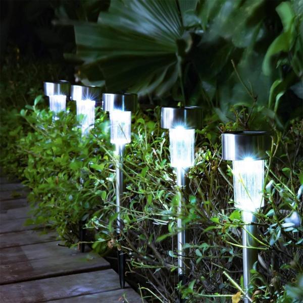LEDガーデンライト ソーラーライト パスライト 芝生ランプ 地中埋込型ライト 屋外照明 埋め込み式防水ライト 12本セット ガーデンライト|micomema