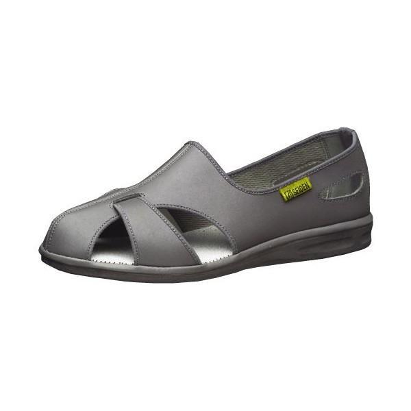 ミドリ安全 ナースサンダル メンズ レディース エレパスクールN 静電 グレイ 通気性 医療 衛生 靴 通気性 蒸れない