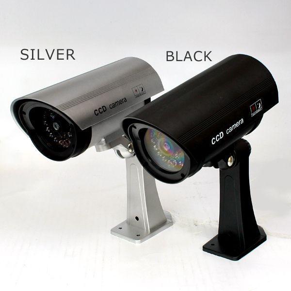 ダミーカメラ 防犯カメラ 防犯 カメラ CCD 赤色LED常時点灯 ダミー 防犯対策 空き巣 不審者対策 (c-82992) 送料無料|midoriya|04