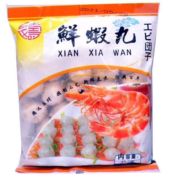 冷凍エビ魚団子鮮蝦丸400gXianXiaWanShrimpDumpling