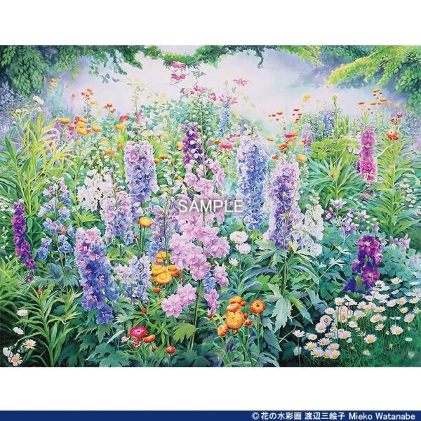 渡辺三絵子 花の水彩画 ジークレー版画(複製画)「春光」額装Mサイズ mieko-watanabe 04