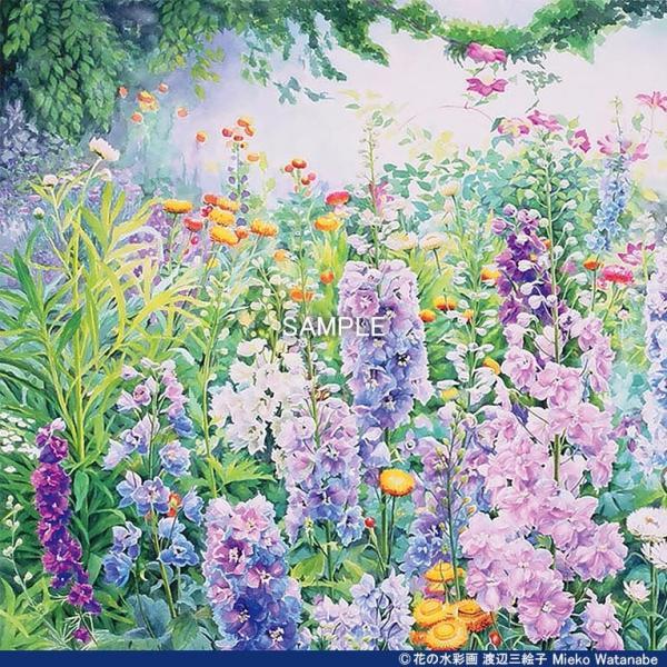 渡辺三絵子 花の水彩画 ジークレー版画(複製画)「春光」額装Mサイズ|mieko-watanabe|05