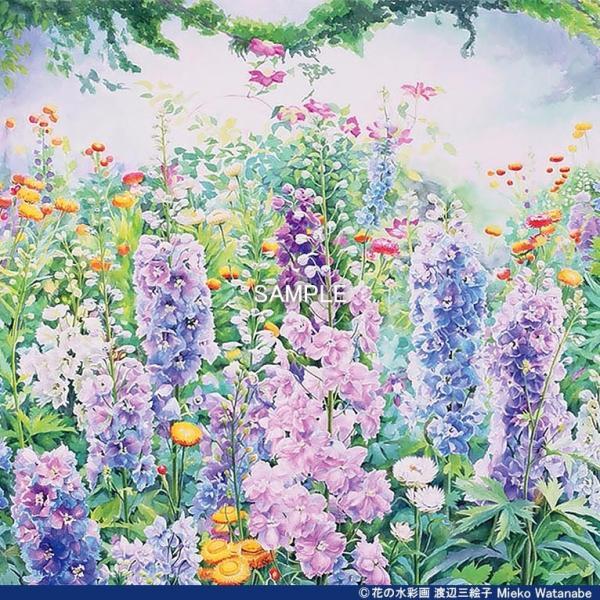 渡辺三絵子 花の水彩画 ジークレー版画(複製画)「春光」額装Mサイズ mieko-watanabe 06