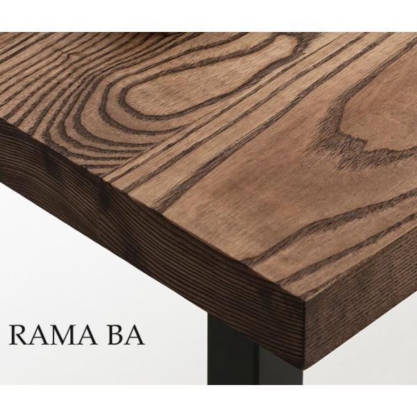 開梱設置便 MKマエダ ダイニングテーブル RMA-150 BA ブラウン 150cm幅 ホワイトアッシュ無垢板 オイル仕上げ|mifuji|02