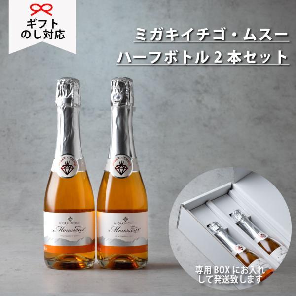 イチゴ スパークリングワイン ミガキイチゴ・ムスー(化粧箱なし)2点セット|migaki-ichigo