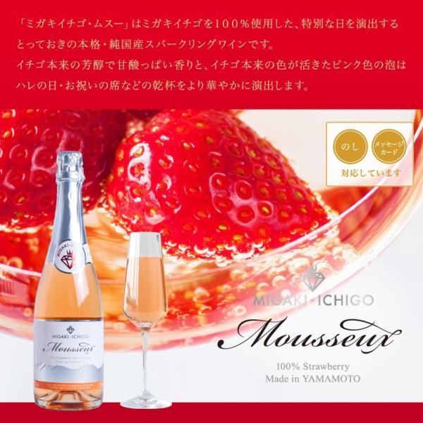 イチゴ スパークリングワイン ミガキイチゴ・ムスー(化粧箱なし)2点セット|migaki-ichigo|03