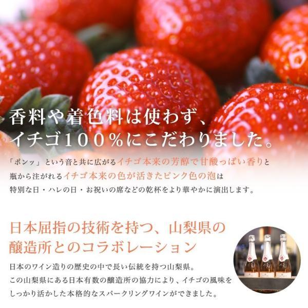 イチゴ スパークリングワイン ミガキイチゴ・ムスー(化粧箱なし)2点セット|migaki-ichigo|04