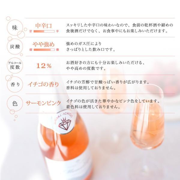 イチゴ スパークリングワイン ミガキイチゴ・ムスー(化粧箱なし)2点セット|migaki-ichigo|05