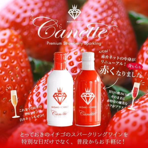 イチゴ スパークリング 缶ワイン ミガキイチゴ・カネット 4本セット|migaki-ichigo|02