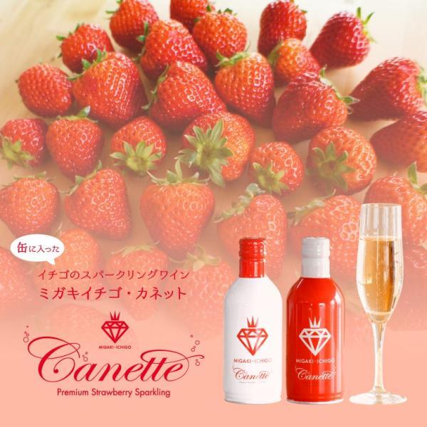 イチゴ スパークリング 缶ワイン ミガキイチゴ・カネット 4本セット|migaki-ichigo|03