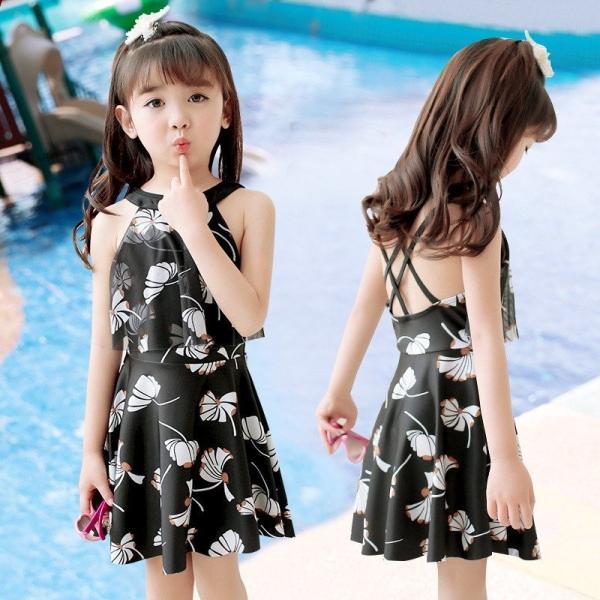 d3e597d87e49a  特価999円・短納期 水着 女の子 キッズ ワンピース 韓国ファション パンツ かわいい 夏物 スイムウェア 2color サロペット 海 フリル
