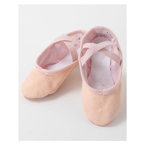 バレエ用品 バレエシューズ 総キャンバス (ゴムクロス) ピンク ブラック ホワイト|mignonballet|02