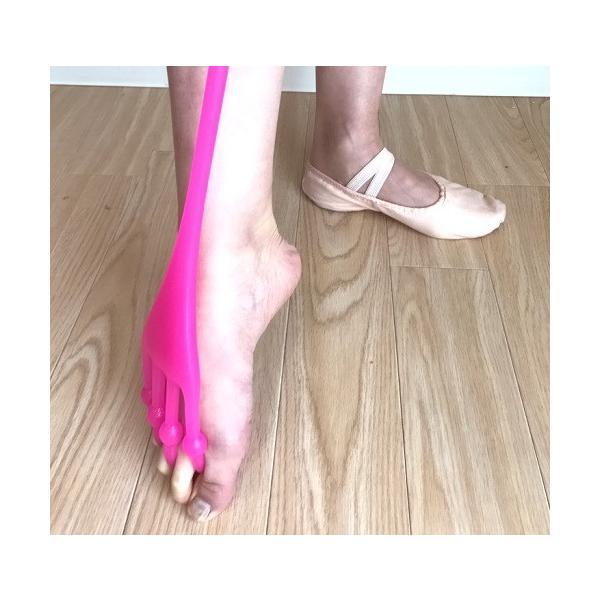 ストレッチバンド バレエ 上達 イカ足 足裏強化で美しいつま先を(ピンク) mignonballet 07