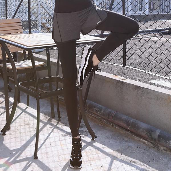 レギンス付きショートパンツ ショートパンツ付きレギンス スパッツ付き 一体型 レディース ボトムス スポーツウェア ランニングウェア ランニングタイツ|mignonlindo|04