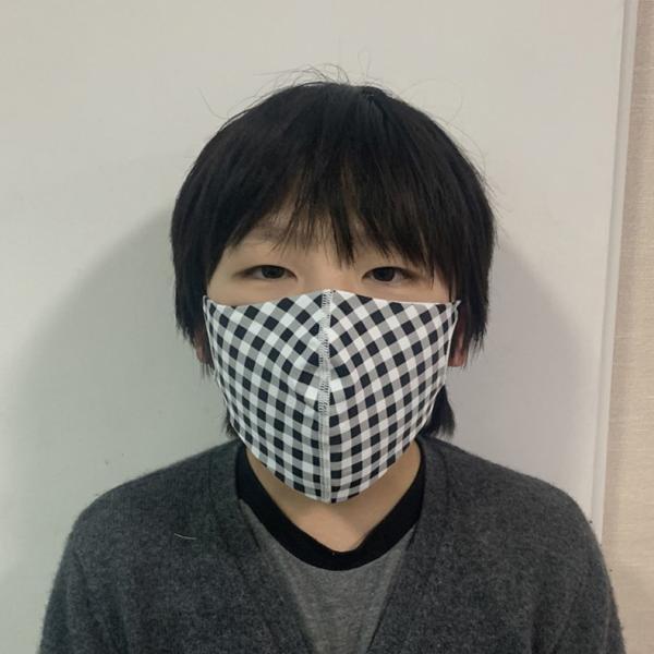 マスク 3D 立体型 洗える 5枚セット UVカット 大人用 子供用 レディース メンズ 黒 白 ブラック ホワイト 繰り返し使える S M L 女性 mignonlindo 12