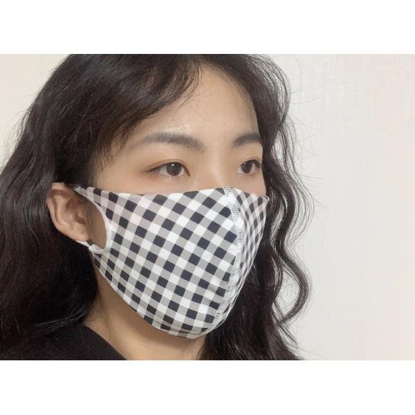 マスク 3D 立体型 洗える 5枚セット UVカット 大人用 子供用 レディース メンズ 黒 白 ブラック ホワイト 繰り返し使える S M L 女性 mignonlindo 14