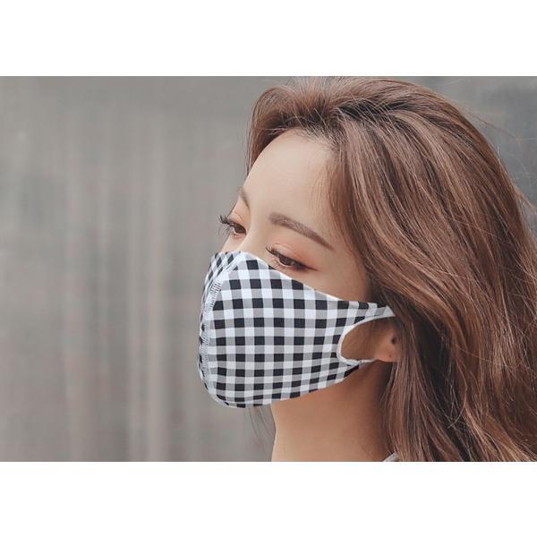 マスク 3D 立体型 洗える 5枚セット UVカット 大人用 子供用 レディース メンズ 黒 白 ブラック ホワイト 繰り返し使える S M L 女性 mignonlindo 15