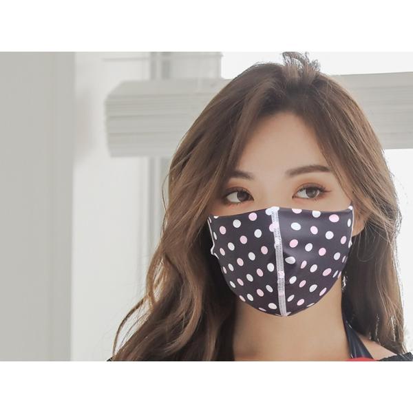 マスク 3D 立体型 洗える 5枚セット UVカット 大人用 子供用 レディース メンズ 黒 白 ブラック ホワイト 繰り返し使える S M L 女性 mignonlindo 16