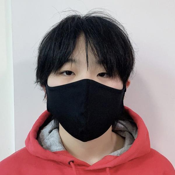 マスク 3D 立体型 洗える 5枚セット UVカット 大人用 子供用 レディース メンズ 黒 白 ブラック ホワイト 繰り返し使える S M L 女性 mignonlindo 03