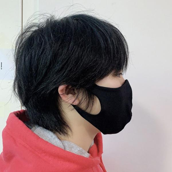 マスク 3D 立体型 洗える 5枚セット UVカット 大人用 子供用 レディース メンズ 黒 白 ブラック ホワイト 繰り返し使える S M L 女性 mignonlindo 04