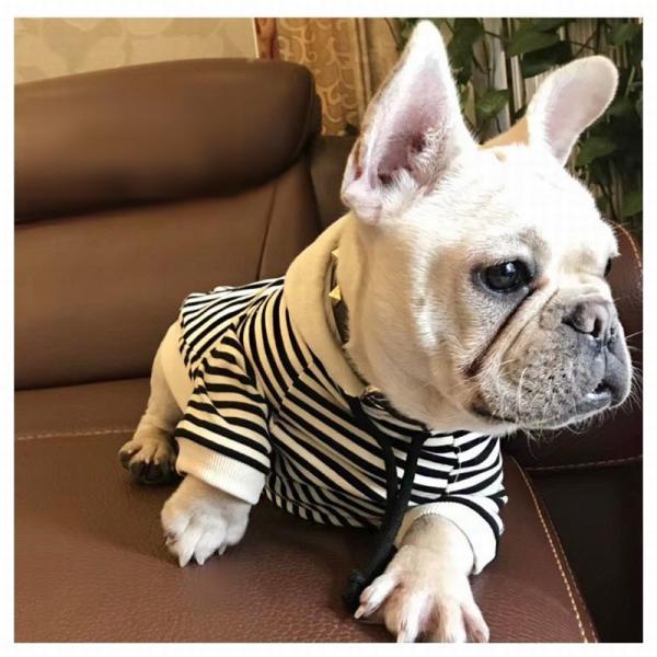 犬服 ドッグウェア パーカー フード付きパーカー 飼い主とお揃い ボーダー柄 フード 犬用品 ペット用品 犬 いぬ ドッグ 小型犬 中型犬 大型犬 フ|mignonlindo|04