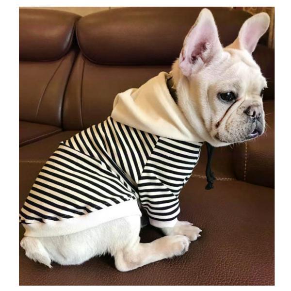 犬服 ドッグウェア パーカー フード付きパーカー 飼い主とお揃い ボーダー柄 フード 犬用品 ペット用品 犬 いぬ ドッグ 小型犬 中型犬 大型犬 フ|mignonlindo|09