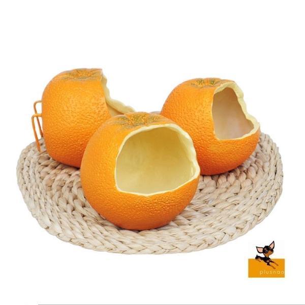 小動物用食器 食器 フードボウル 餌入れ エサ入れ オレンジ ケージ 固定 鳥 ハムスター 小動物 ペットグッズ ペット フード かわいい