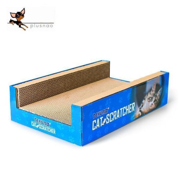 猫用 爪とぎ 凹型 ネコ ペット用品 爪研ぎ ダンボール 段ボール 写真入り 可愛い かわいい 爪みがき 猫 おもちゃ ストレス解消 ガリガリ バリバ