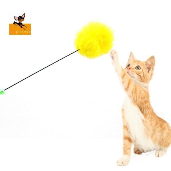 猫じゃらし 猫用 おもちゃ ペットグッズ ペット用品 ネコ 猫のおもちゃ 運動不足 ストレス解消 ポンポン 鈴付き スティック かわいい