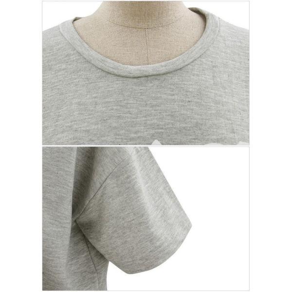 上下セット 2点セット 半袖Tシャツ ラウンドネック ショートパンツ 短パン レディース セットアップ カットソー プリントTシャツ ホットパンツ ト|mignonlindo|06