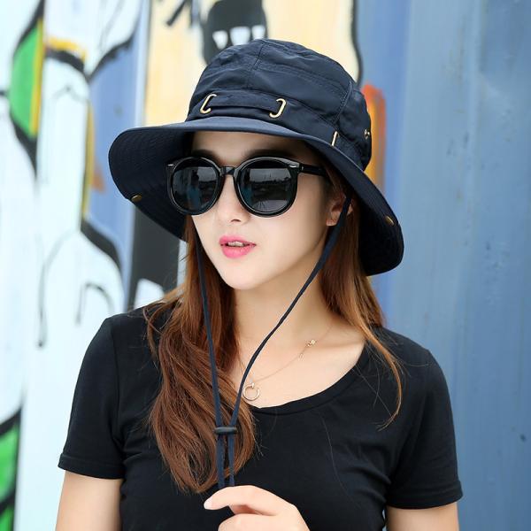 帽子 サファリハット アウトドアハット シンプル 無地 レディースファッション 2way かわいい おしゃれ 日焼け防止 日よけ カジュアル 旅行 登|mignonlindo|04
