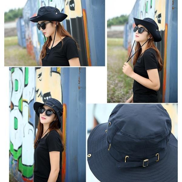 帽子 サファリハット アウトドアハット シンプル 無地 レディースファッション 2way かわいい おしゃれ 日焼け防止 日よけ カジュアル 旅行 登|mignonlindo|05