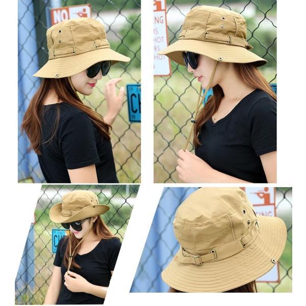 帽子 サファリハット アウトドアハット シンプル 無地 レディースファッション 2way かわいい おしゃれ 日焼け防止 日よけ カジュアル 旅行 登|mignonlindo|07