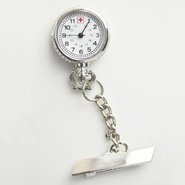 ナースウォッチ ポケットウォッチ 逆さ文字盤 ピンタイプ アンティーク クオーツ レディース 懐中時計 クォーツ 時計 シンプル 女性用 婦人用 おし