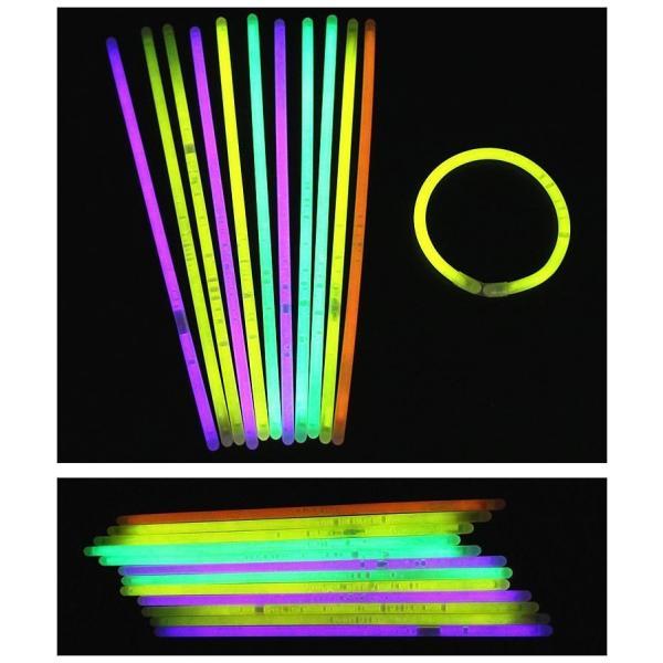 蛍光ブレスレット 蛍光スティック 光るブレスレット サイリウム 光りもの 光る おもちゃ パーティーグッズ イベントグッズ 1本から ハロウィン コン|mignonlindo|05