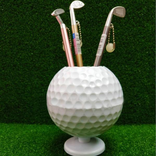 ペン立て 鉛筆立て 文房具 雑貨 小物 ゴルフボール型 収納 整理用品 ペンホルダー かわいい おしゃれ 飾り スポーティ ペンスタンド シンプル 面