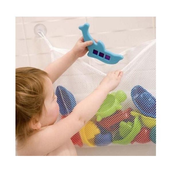 お風呂おもちゃ収納 バストイ入れ お片付けネット 収納ネット バスネット 水遊び お風呂 バスフック 吸盤付き|mignonlindo|02