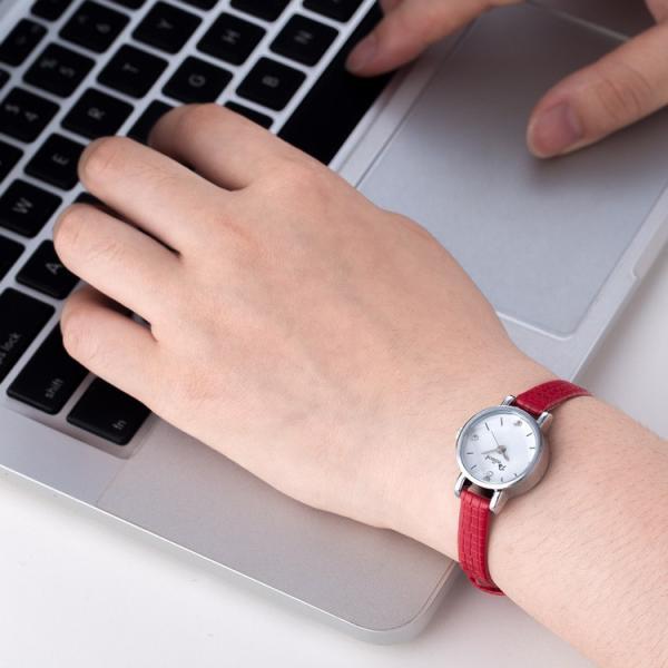 腕時計 ウォッチ 女性 レディース フェイクレザー フェミニン 華奢 細身 シンプル エレガント ゴールド シルバー mignonlindo 11