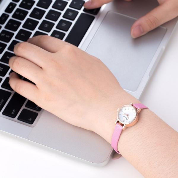 腕時計 ウォッチ 女性 レディース フェイクレザー フェミニン 華奢 細身 シンプル エレガント ゴールド シルバー mignonlindo 12