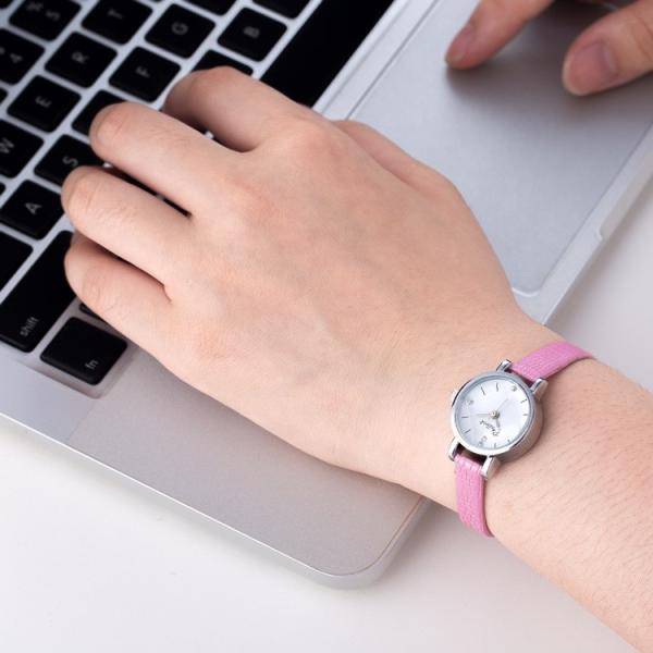 腕時計 ウォッチ 女性 レディース フェイクレザー フェミニン 華奢 細身 シンプル エレガント ゴールド シルバー mignonlindo 13