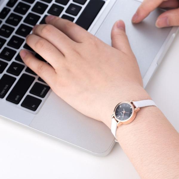 腕時計 ウォッチ 女性 レディース フェイクレザー フェミニン 華奢 細身 シンプル エレガント ゴールド シルバー mignonlindo 14