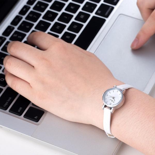 腕時計 ウォッチ 女性 レディース フェイクレザー フェミニン 華奢 細身 シンプル エレガント ゴールド シルバー mignonlindo 15