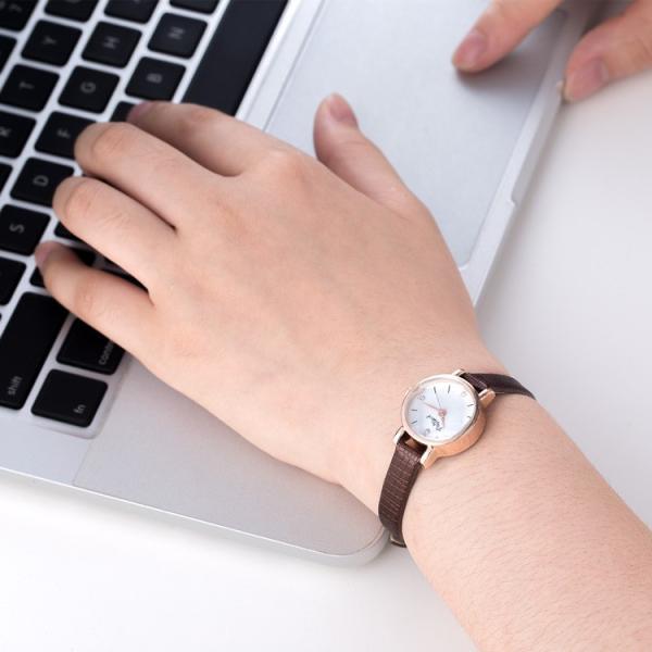 腕時計 ウォッチ 女性 レディース フェイクレザー フェミニン 華奢 細身 シンプル エレガント ゴールド シルバー mignonlindo 16